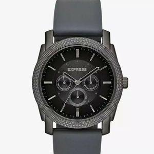 Rivington Multi-Function Watch - Gray Men Rubber